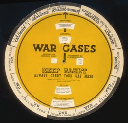 Photo:Gas identification chart and particulars of all known gases